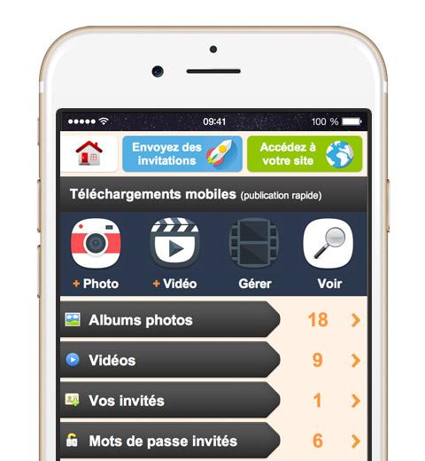 Partagez vos photos et vidéos depuis votre mobile